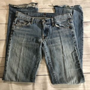 7 For All Mankind Destroyed Distressed Jeans